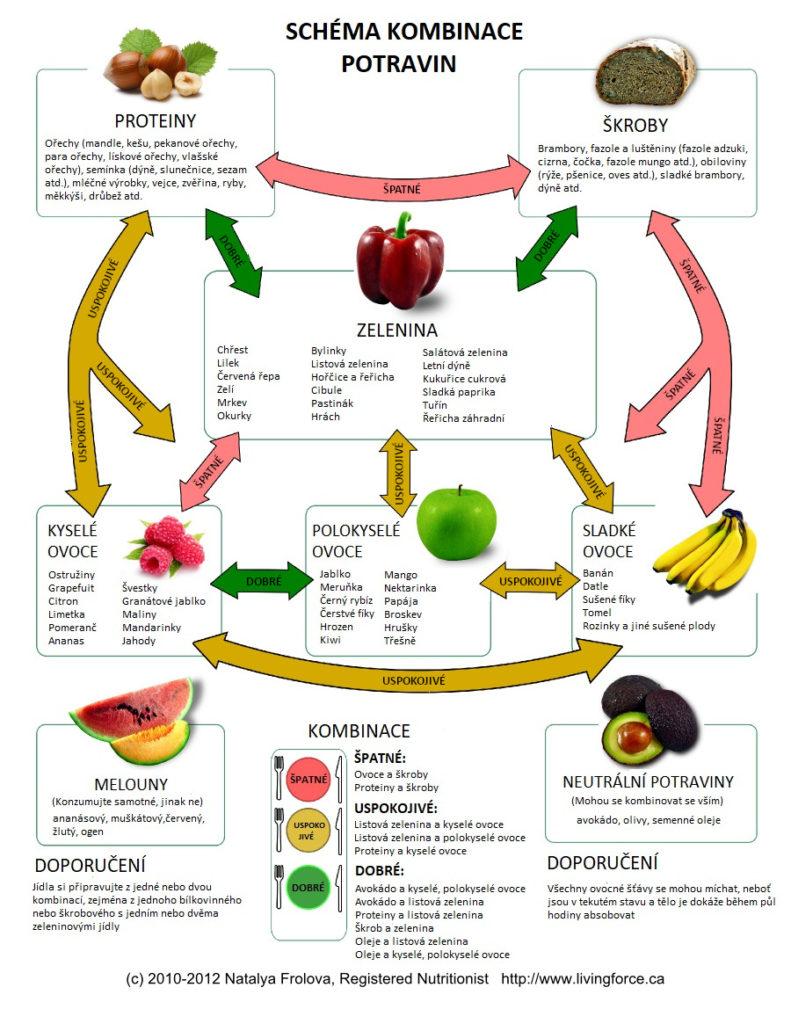 schema kombinace potravin