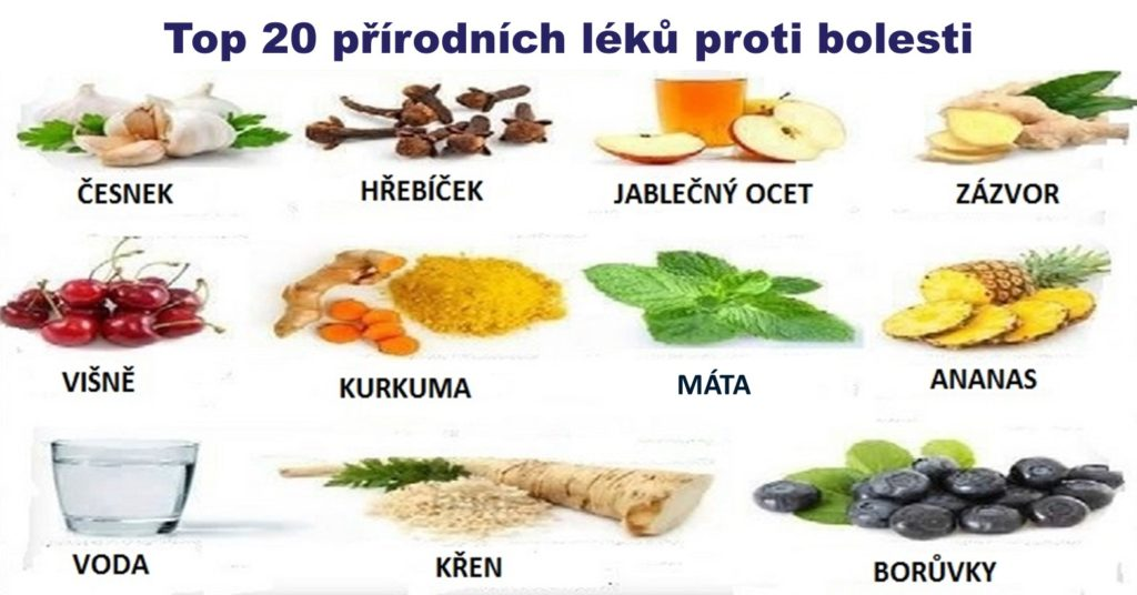 Jídlo je medicínou: 20 přírodních léků proti bolesti, které najdete ve své kuchyni